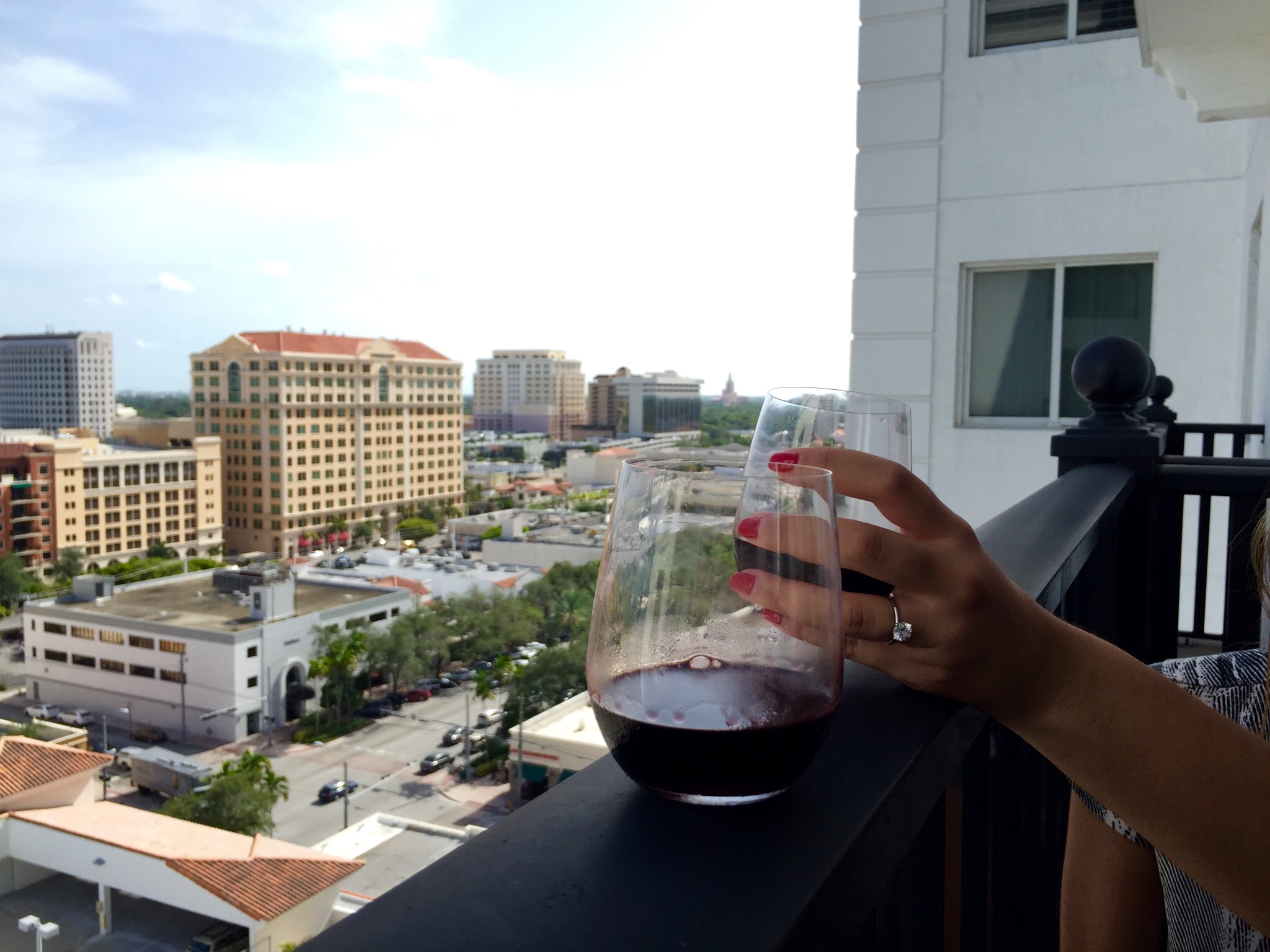 Cheers from our balcony!
