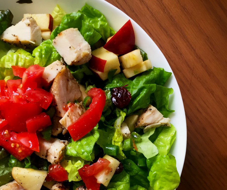 Cranberry Apple Salad with Grilled Chicken